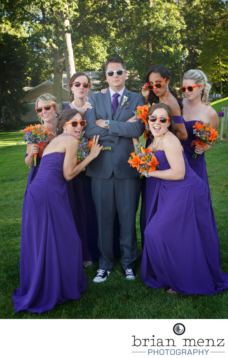 bridal-party-gull-lake-country-club-wedding