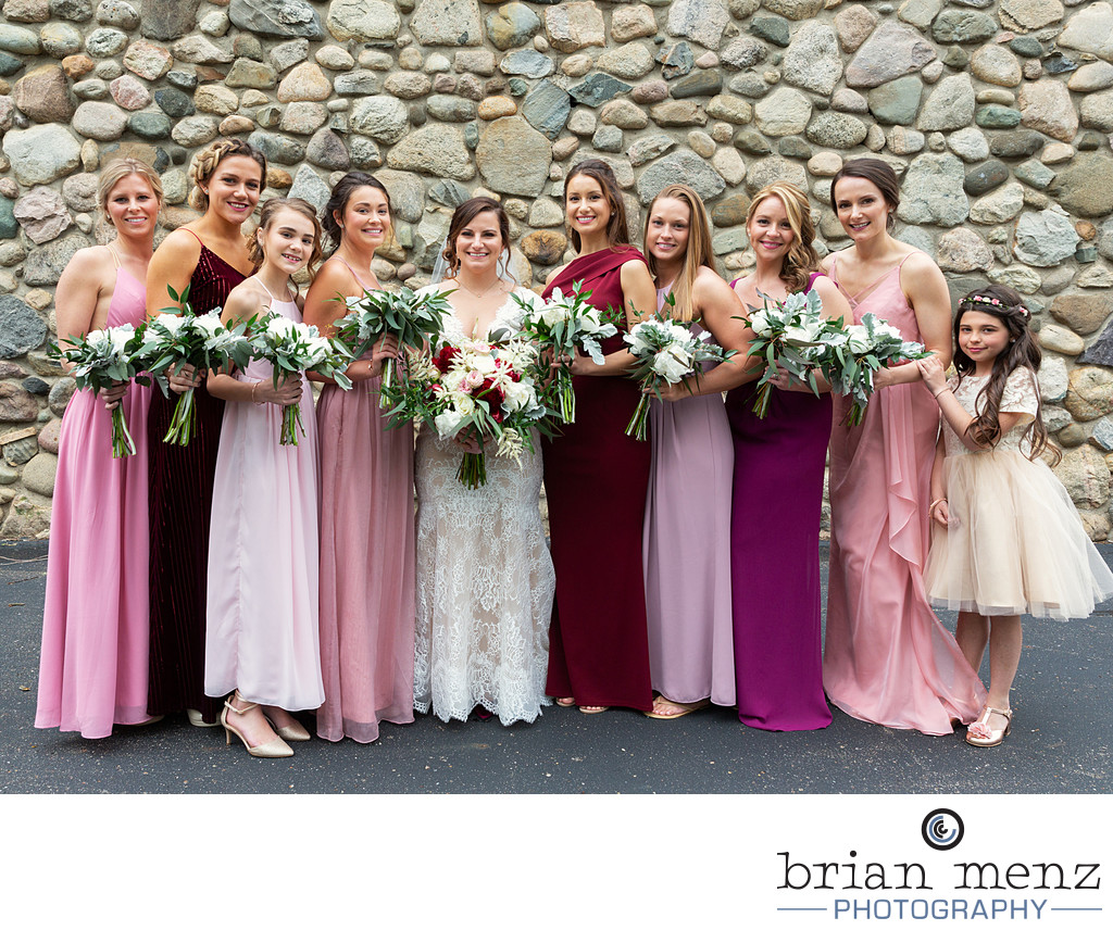Lawton Community center Wedding Bridal Party