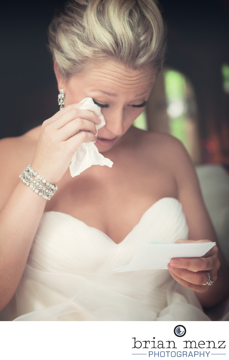 bride crying kalamazoo wedding photography