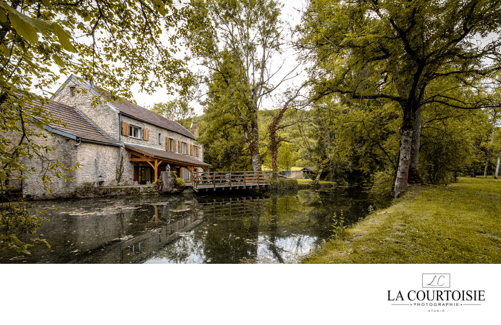 Photo de moulin à eau en Bourgogne