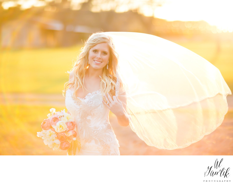 Texas Wedding Photographer shoots with integral flare