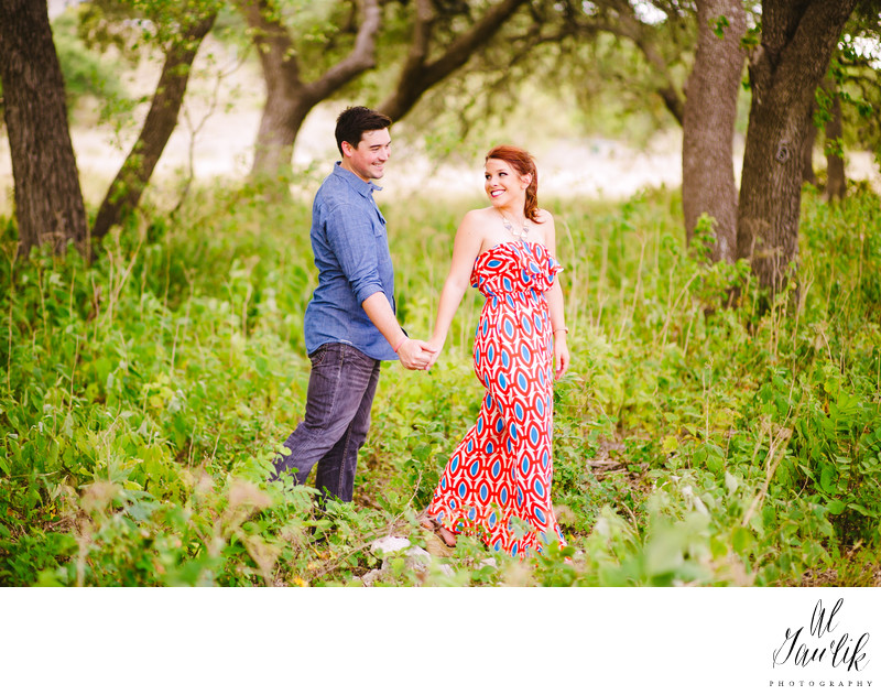 Texas Engagement Woods, Trees, and tall plants