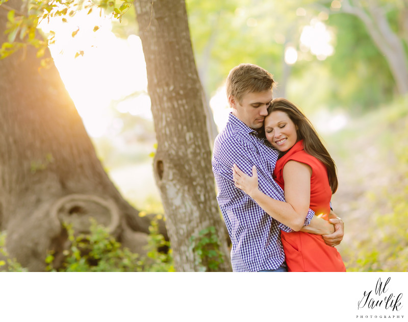 Texas Engagement Photographer Magic Moment in the Sun