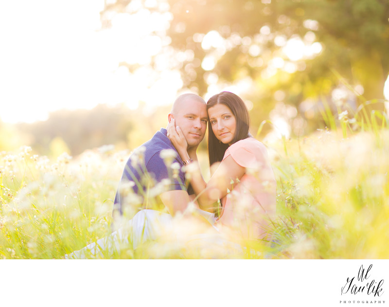 Texas Engagement Photographer Portrait in the Flowers