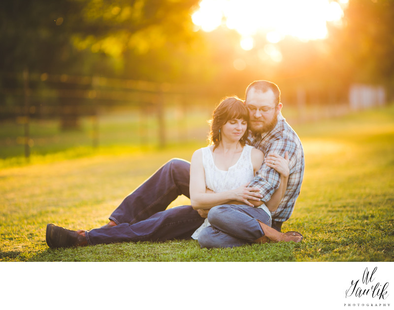 Texas Engagement Photographer Golden After Glow