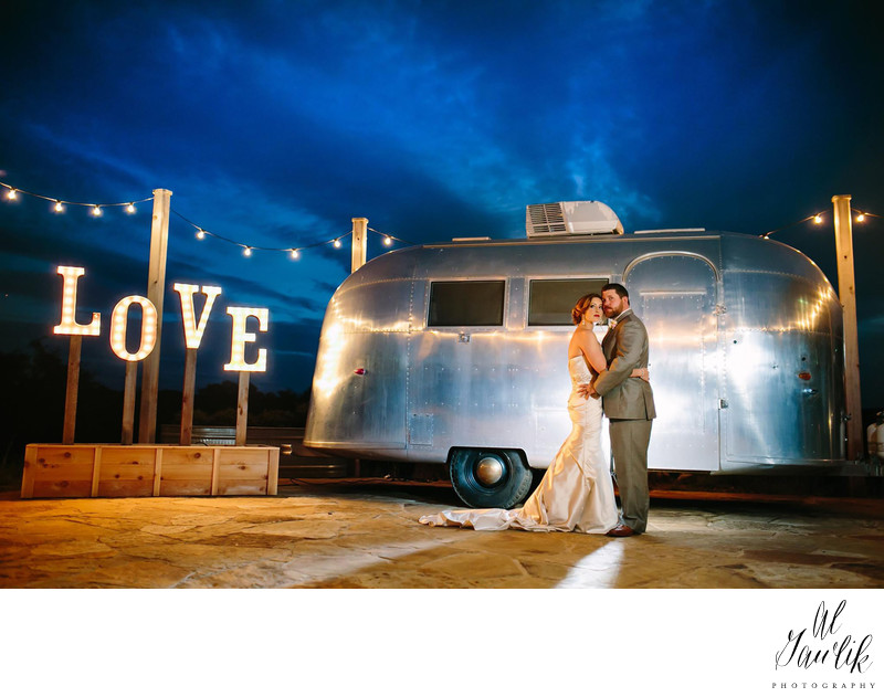 Hill Country Wedding Classic Airstream Moment