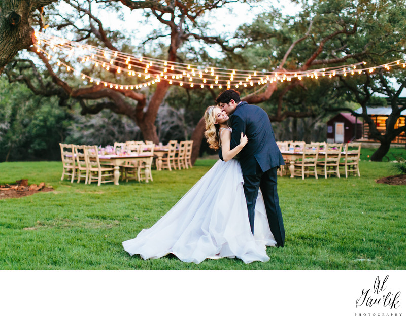 Texas Wedding Photographer Light Strings