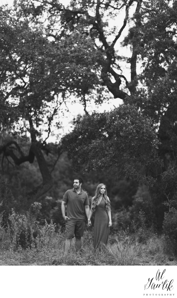 Texas Engagement Photographer Not Lost Black and White