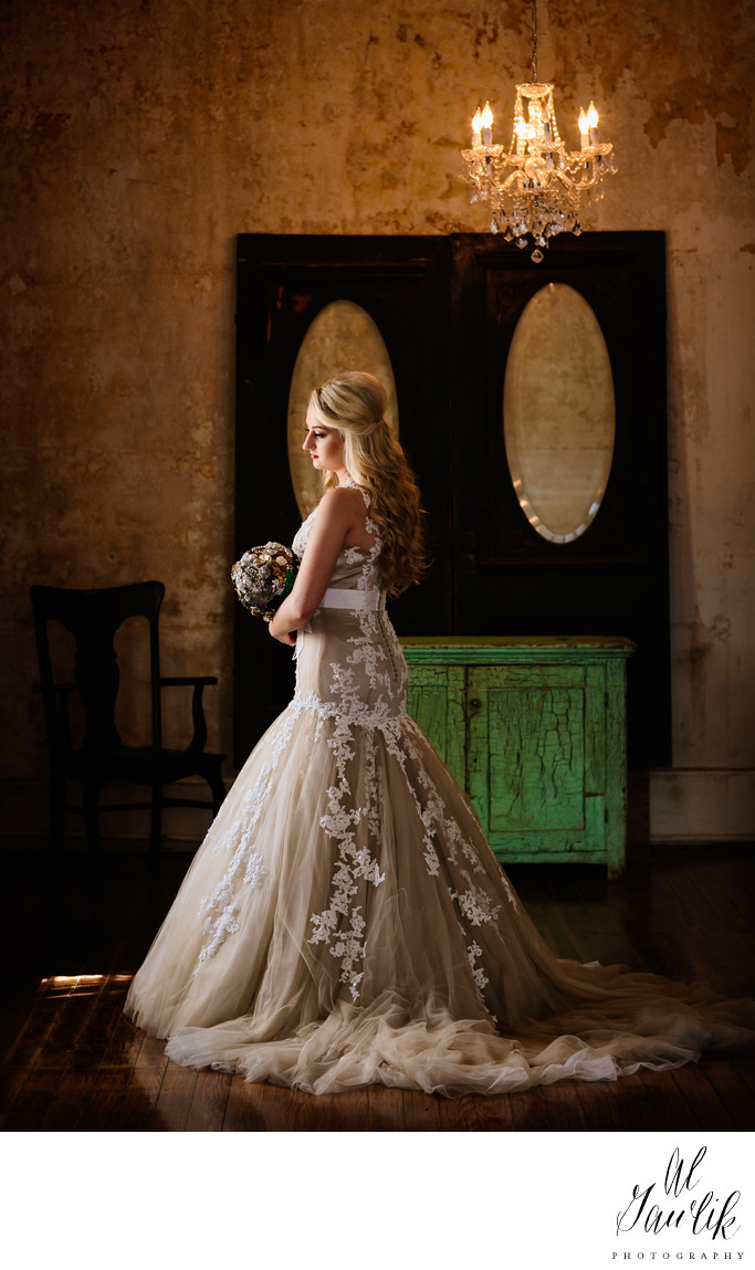 Texas  Bridal Portrait captures 19th century feeling