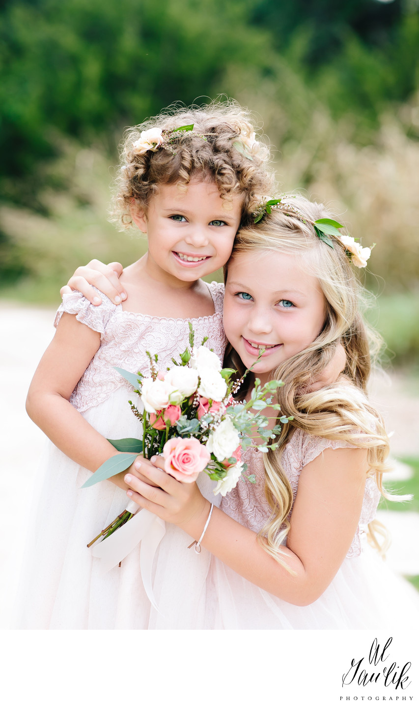 Texas wedding flower girls