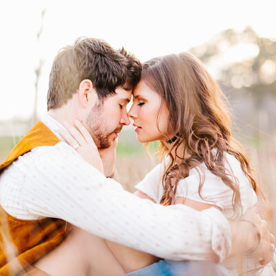Texas engagement photo tender and loving