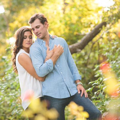 Texas Engagement -couple pledges love for each other