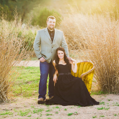 Texas EngagementPhotographer Tall Grass & Setting Sun