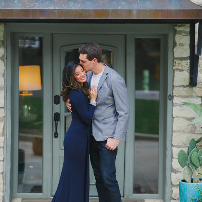 Texas Engagement Photographer loving embrace