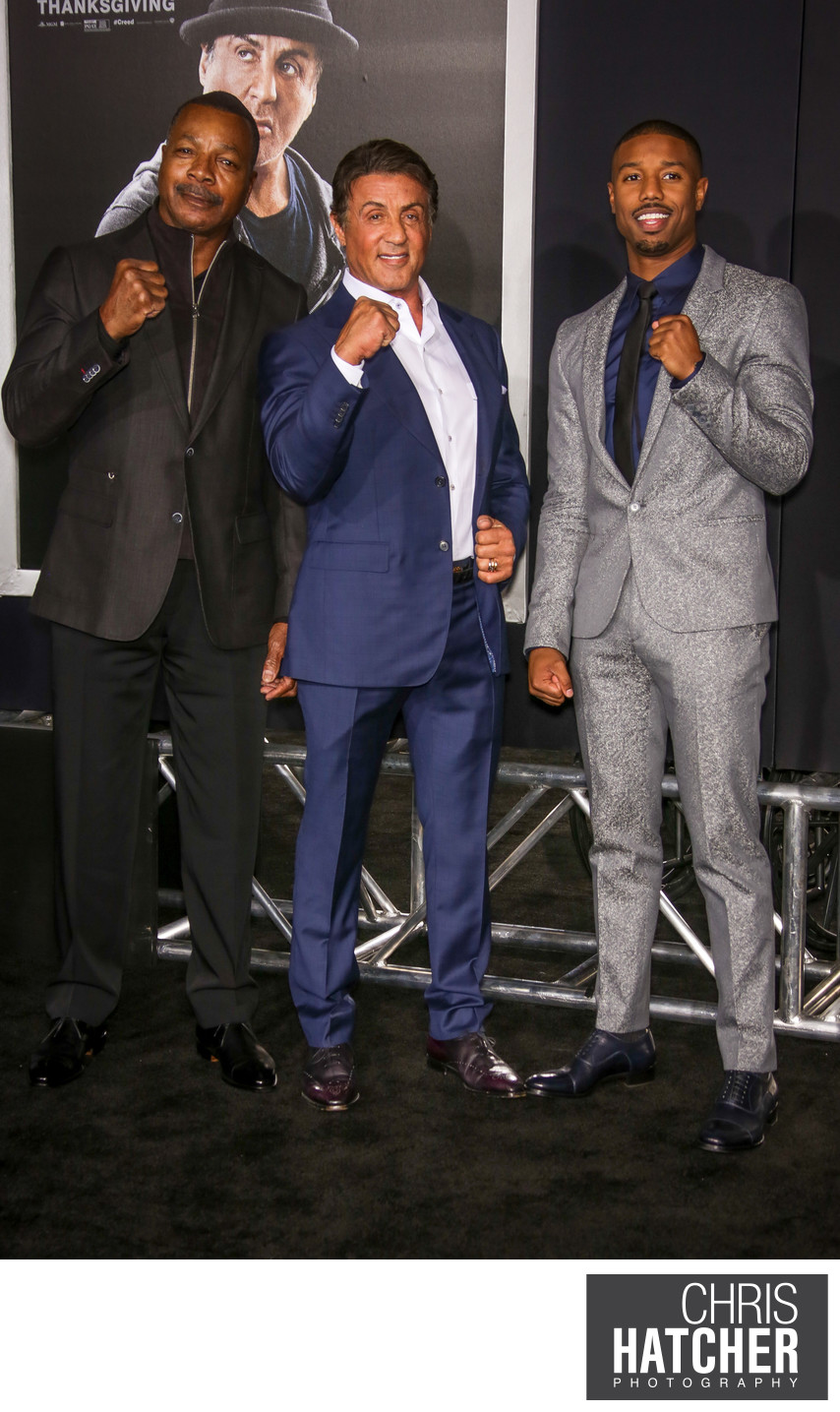 alto partícipe Lujoso  Sylvester Stallone, Carl Weathers and Michael B. Jordan - Red Carpet