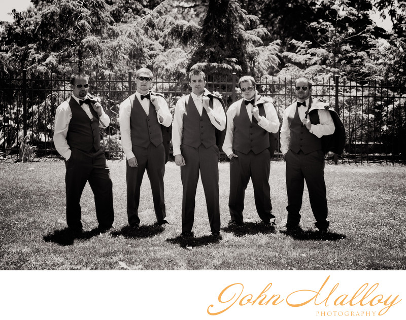 Cool Groomsmen at Lakeview Farms