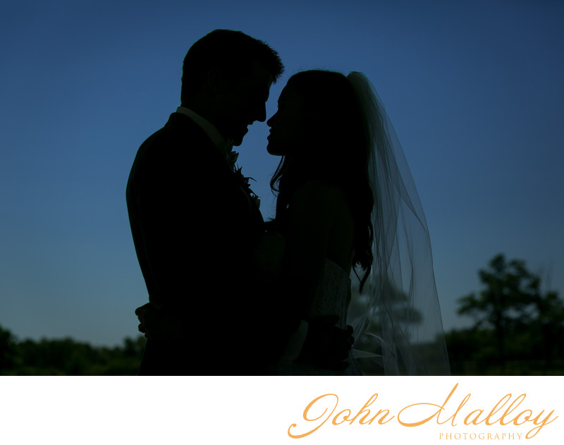 Romantic Wedding Silhouette, Lakeview Farms