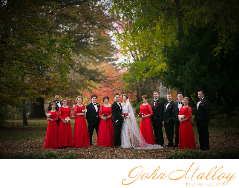 Autumn Bridal Party, Baltimore, Maryland