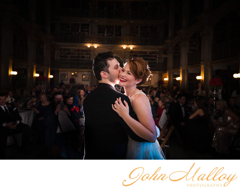 First Dance Kiss, Peabody Library, Maryland