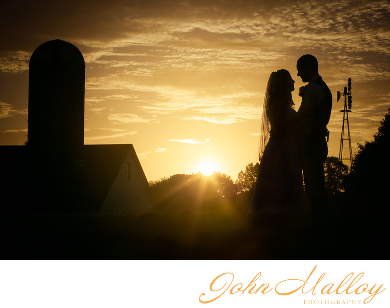 Wedding Sunset Silhouette, Stoltzfus, Lancaster