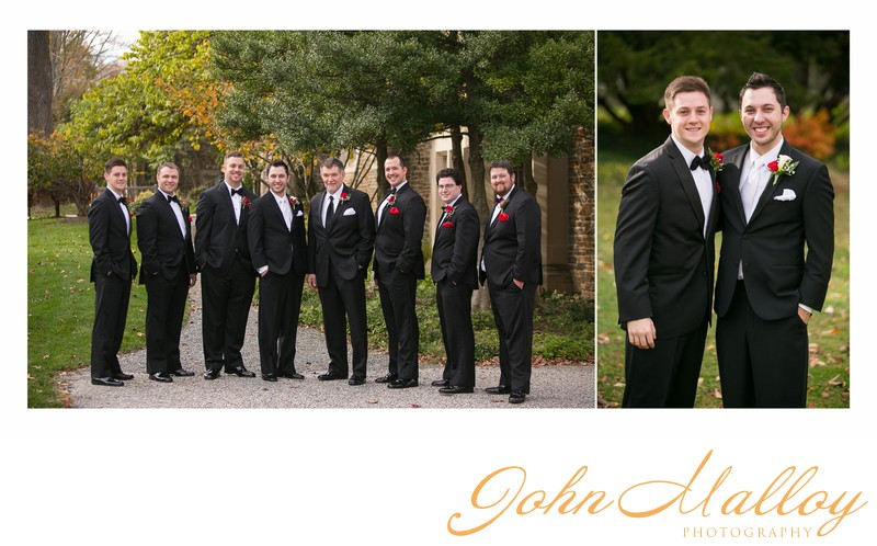 Groom and Groomsmen, Outdoor Portrait, Towson, MD