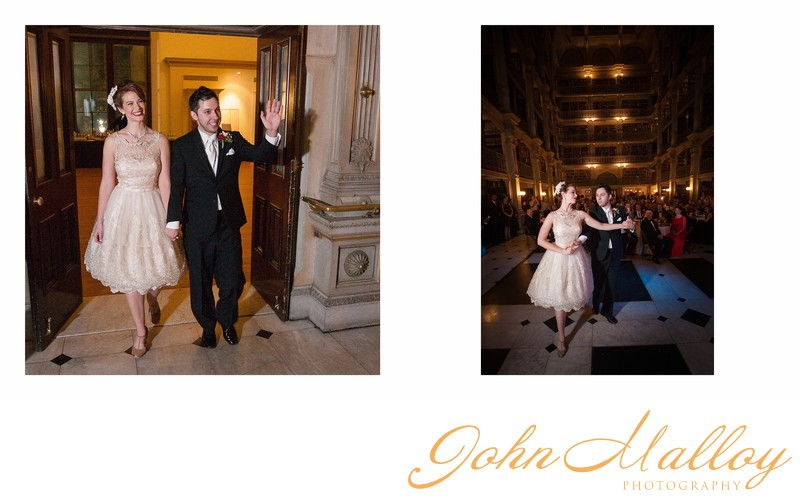 Bride and Groom Enter and Dance, Peabody Library
