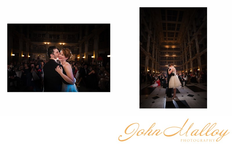 First Dance at Peabody Library Wedding
