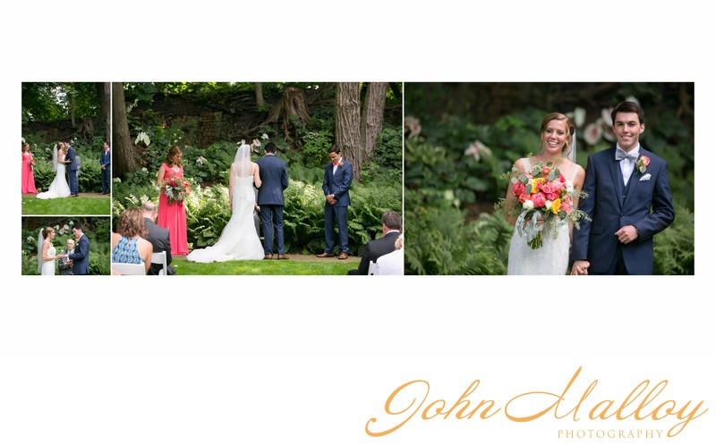 Outdoor Wedding Kiss, Stone Mill Inn