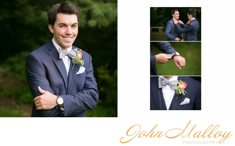 Handsome Groom, Bowtie, Stone Mill Inn
