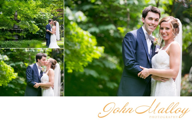 Natural Green Outdoor Wedding Portraits, Stone Mill Inn