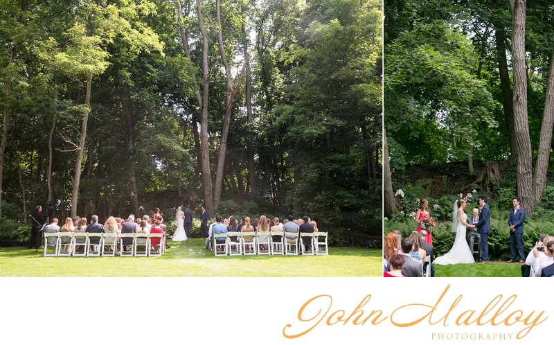Beautiful Outdoor Wedding Ceremony, Stone Mill Inn