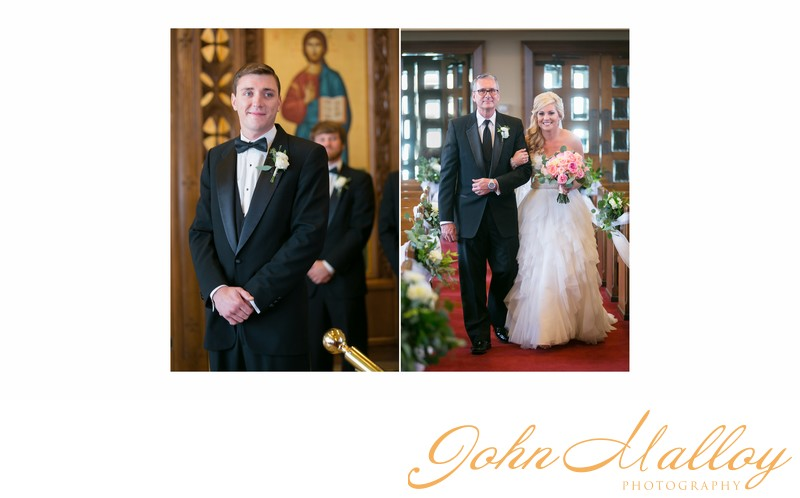Groom Sees Bride Coming Down the Aisle, Lancaster
