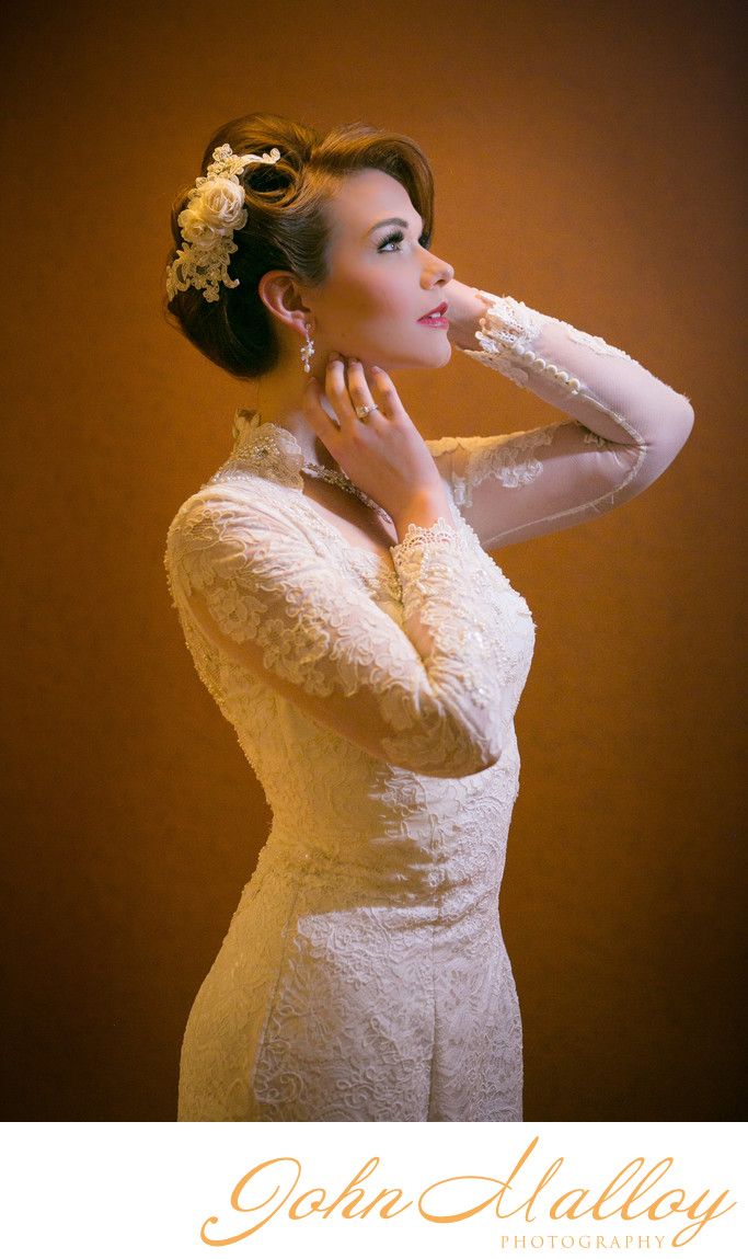 Classy Bridal Portrait, Baltimore Maryland