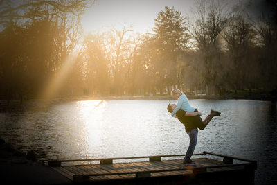 Shining Pond Engagement Portrait, Longs Park, Lancaster
