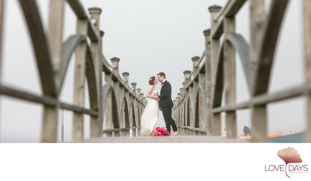 Bride and Groom Portrait on the CBI dock