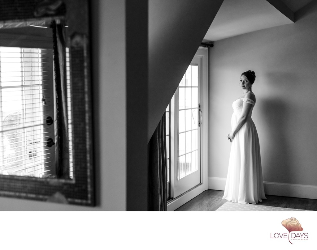 Black & White Bride Portrait at CBI