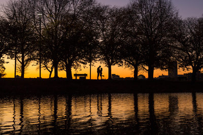 Charles River Engagement Session silhouette