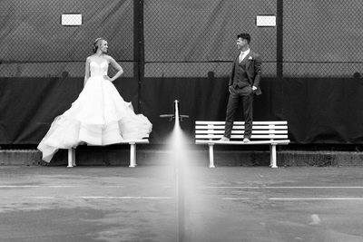 Chatham Beach Tennis Club Bride and Groom