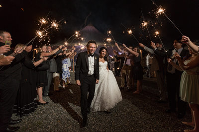 Sparkler Send Off Photography at Geer Tree Farm