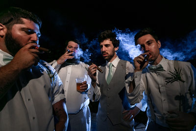Groomsmen Cigar Portrait