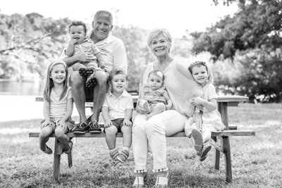 Black and White Cape Cod Family Photography