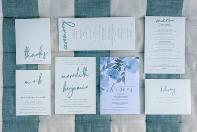 Chatham Bars Inn Wedding card details