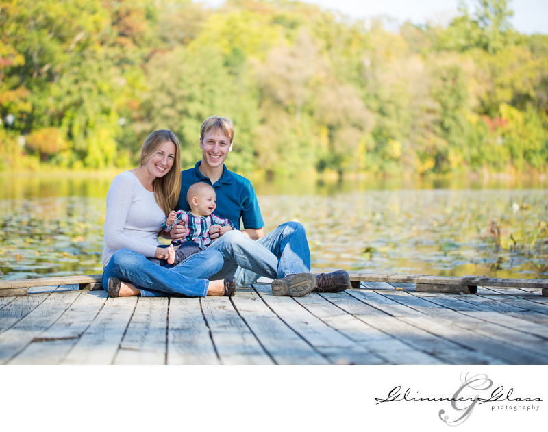 family images in the fall