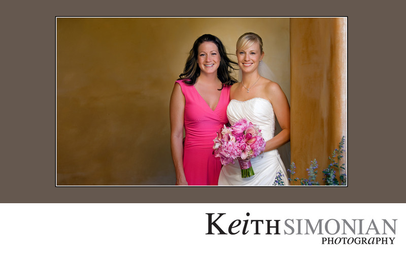 Bride and Maid of Honor Horizontal Portrait