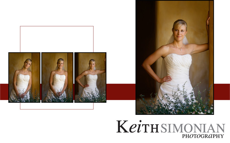 Bride showing different moods for portraits