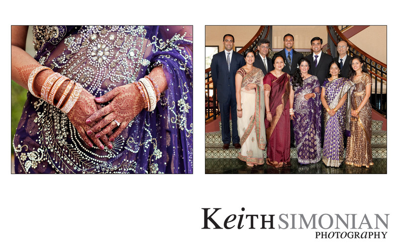 Gold jewelry is a traditional element of Indian wedding