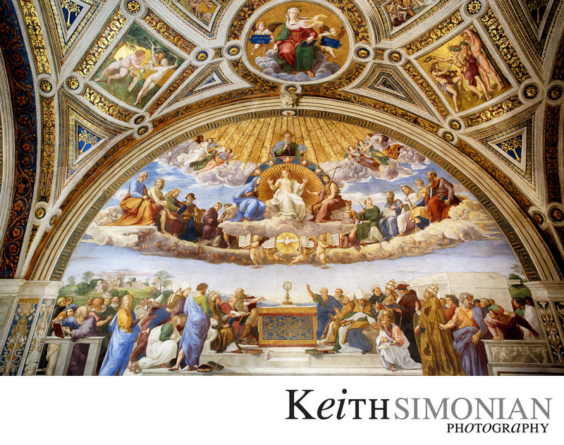 Disputation of the Holy Sacrament - Raphael Rooms - Vatican