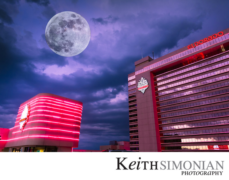 Full Moon Composite Reno Nevada Eldorado Hotel