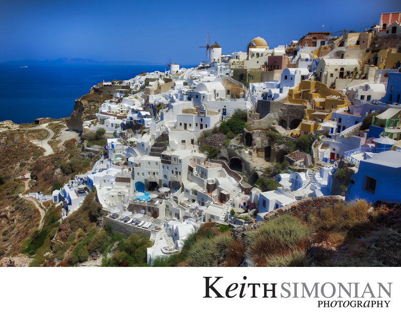 Visiting Santorini Greece on Holland America cruise ship