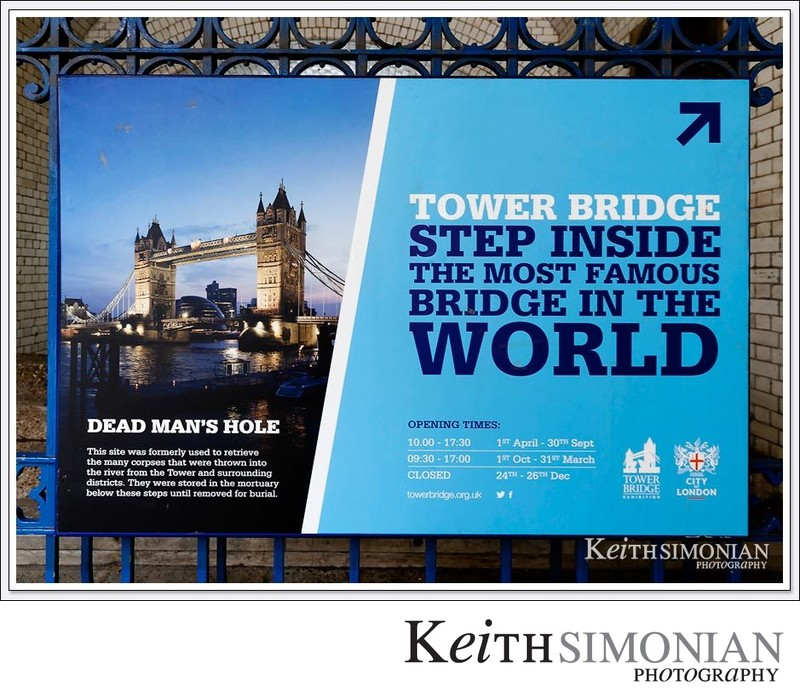 Sign on Tower Bridge proclaiming it's world famous